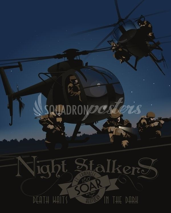 160th Special Operations Aviation Regiment Night Stalkers Own The Night Poster