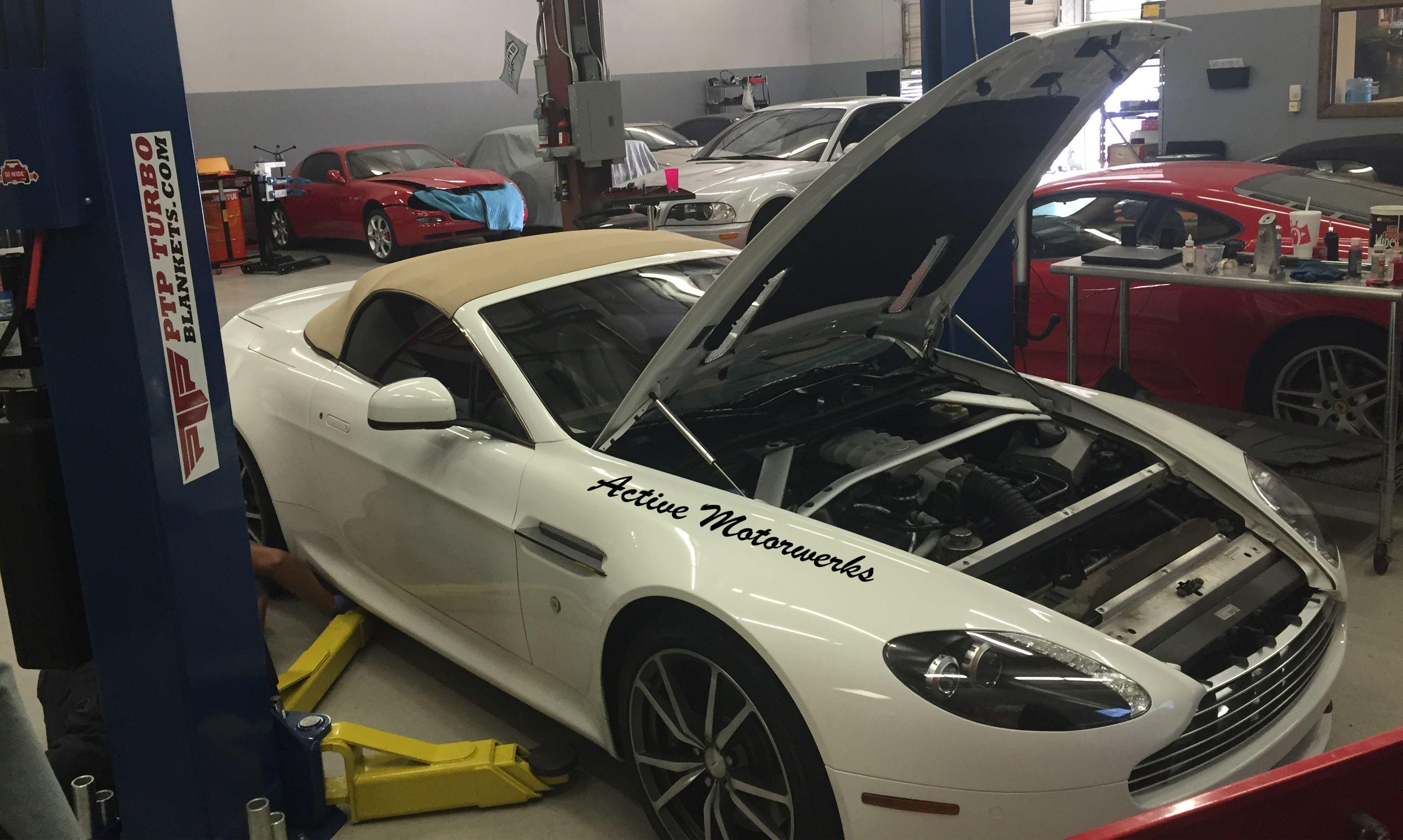 2010 #AstonMartin #Vantage #oilchange & air filter change @ #ActiveMotorwerks #luxurycars