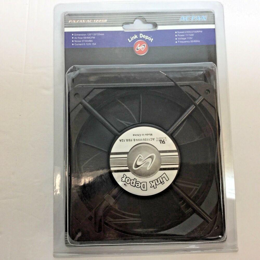 Ball Bearing PC Computer Case Cooling Fan120x120x25mm AC