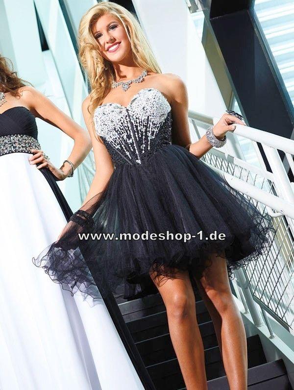 Schwarzes Party Kleid Cocktailkleid Abendkleid Kurz 165 € www ...