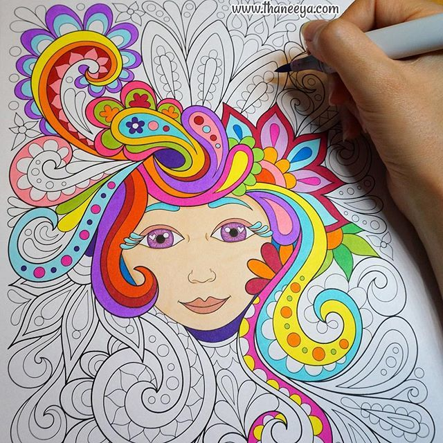 A Free Spirited Lady From My Spirit Coloring Book