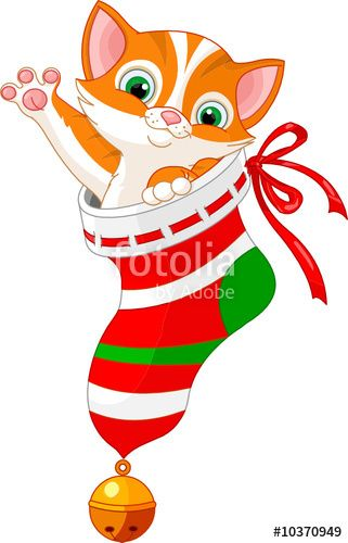 download the royalty free vector christmas cat in sock designed by rh pinterest com cute christmas cat clipart cute christmas cat clipart