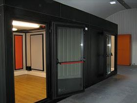 Framed Sound Dampening Pads Music Rehearsal Rooms At Glasgow Music Studios Installed By Amadeus Music Studio Room Music Room Decor Home Studio Music
