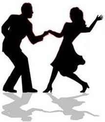 silhouette swing dancing couple by dance clipart free clip art rh pinterest com Rose Border Clip Art Dance Shoes Clip Art