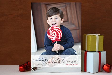 Frosted Christmas Christmas Photo Cards by Rouge Bicyclette at minted.com