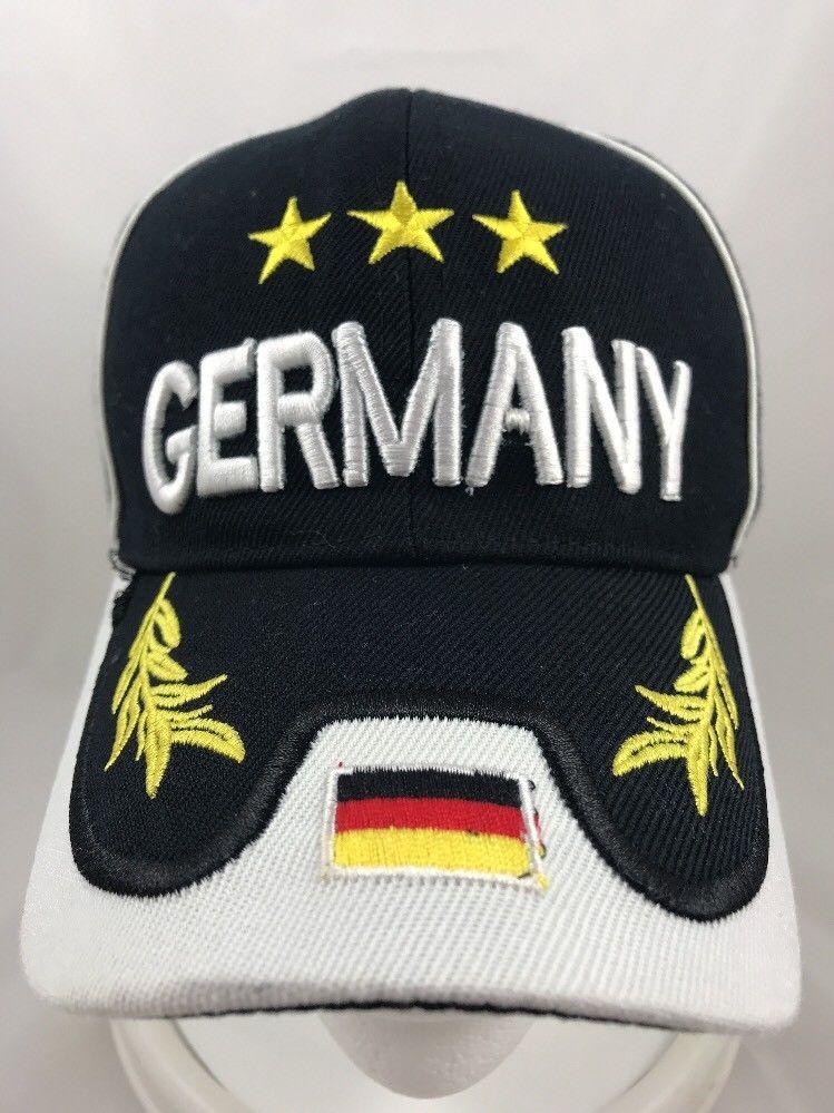 Germany Souvenir Tourist Baseball Cap Hat Adjustable Raised Letters Black White Unknown Baseballcap Ad Unique Items Products Ladies Handkerchiefs Hats
