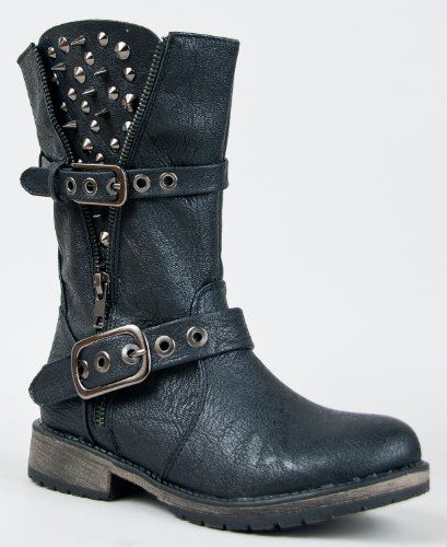 Breckelle's ROCKER-17 Studded Spike Buckle Zipper Detailed Motorcycle Biker Riding Boot ZooShoo,http://www.amazon.com/dp/B00A1YHMQK/ref=cm_sw_r_pi_dp_UzPNsb1ZFETSZFKP