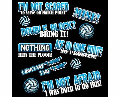 4953d3912021 FEARLESS Volleyball Sayings Design Black T-Shirt | Volleyball ...