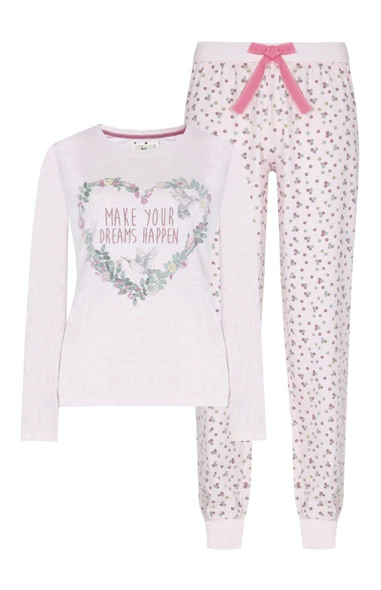 6750e396c Primark - Pyjama rose à fleurs