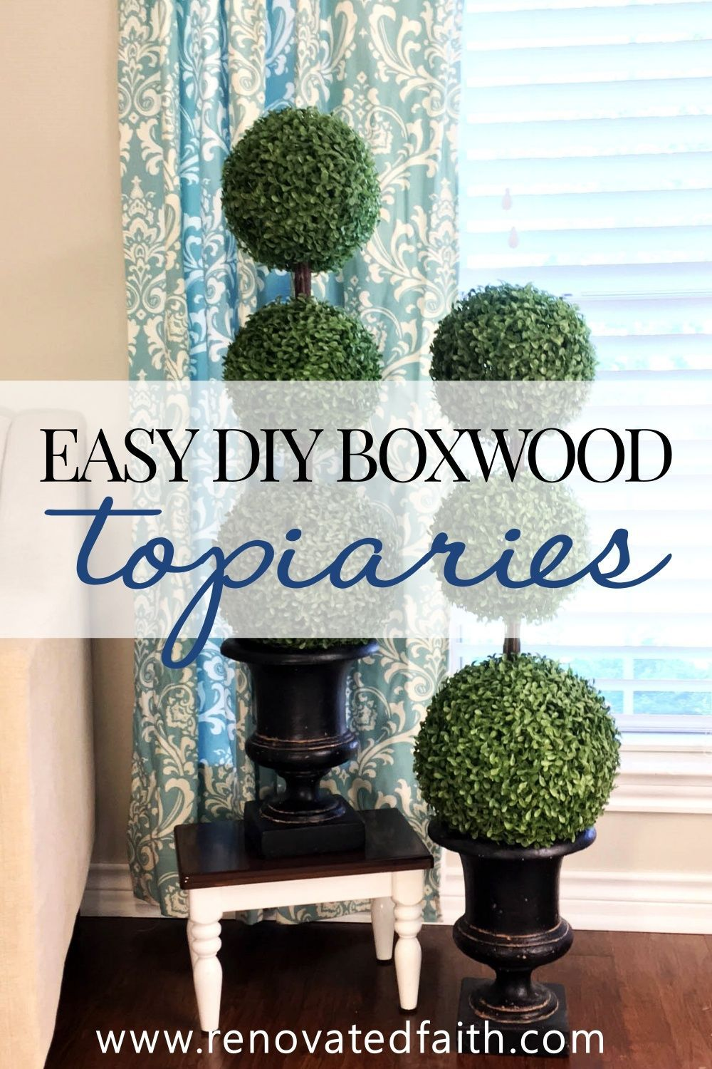 The Easiest Diy Topiary Trees On A Budget Topiary Decorating Ideas In 2020 Diy Home Decor Cheap Farmhouse Decor Home Decor