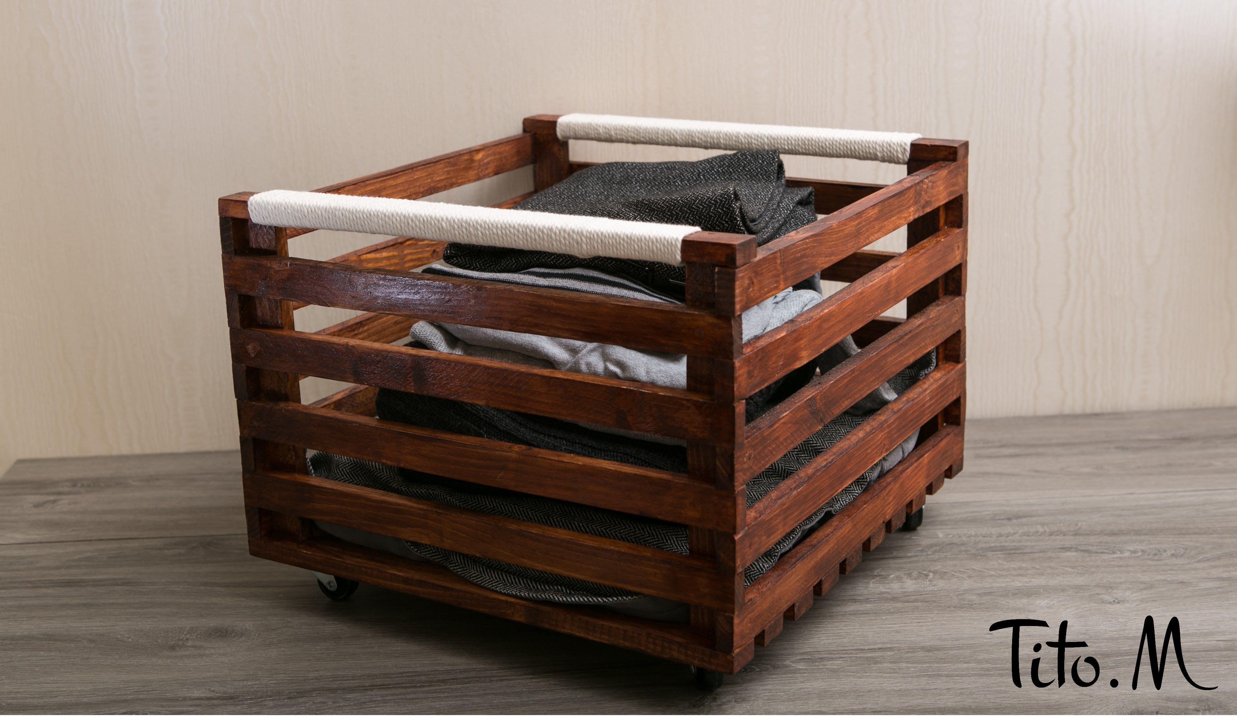 Caisse de rangement | Caisse rangement, Rangement bois, Rangement