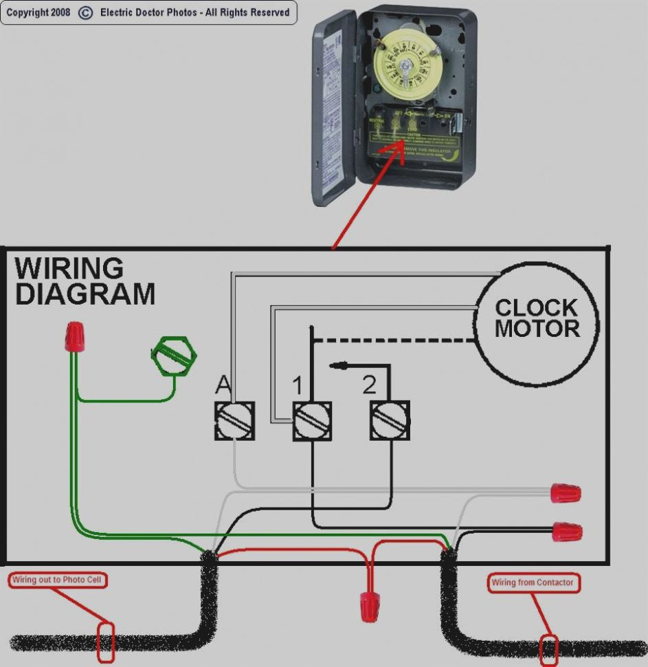 lighting contactor wiring diagram with photocell [ 943 x 970 Pixel ]