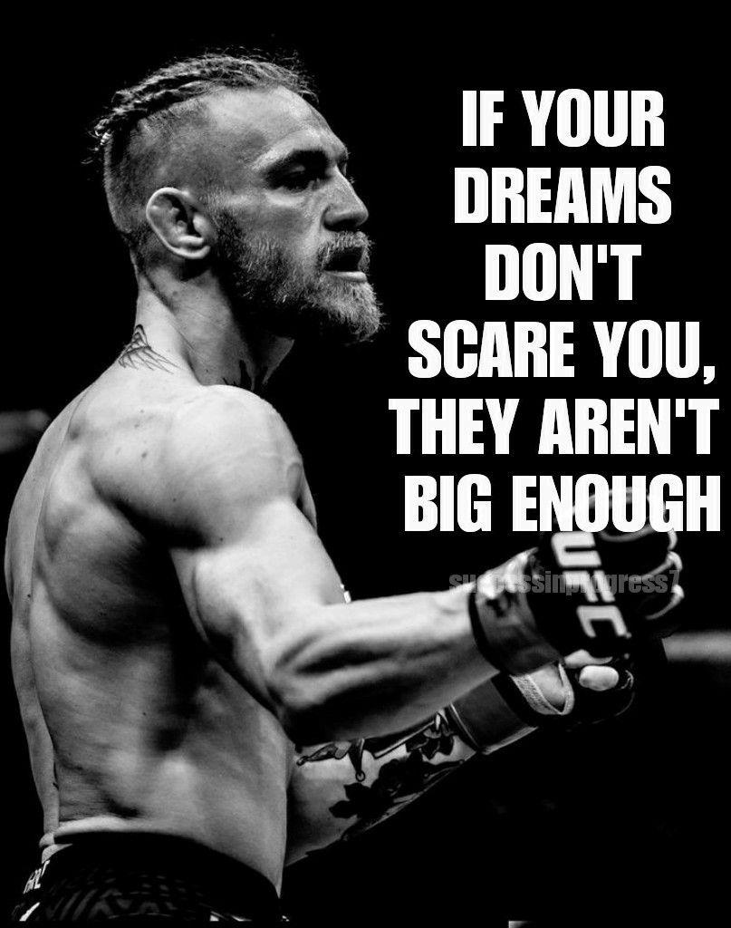 Dream Big To Achieve Big Ig Successinprogress7 Conor Mcgregor Quotes Fighter Quotes Conor Mcgregor
