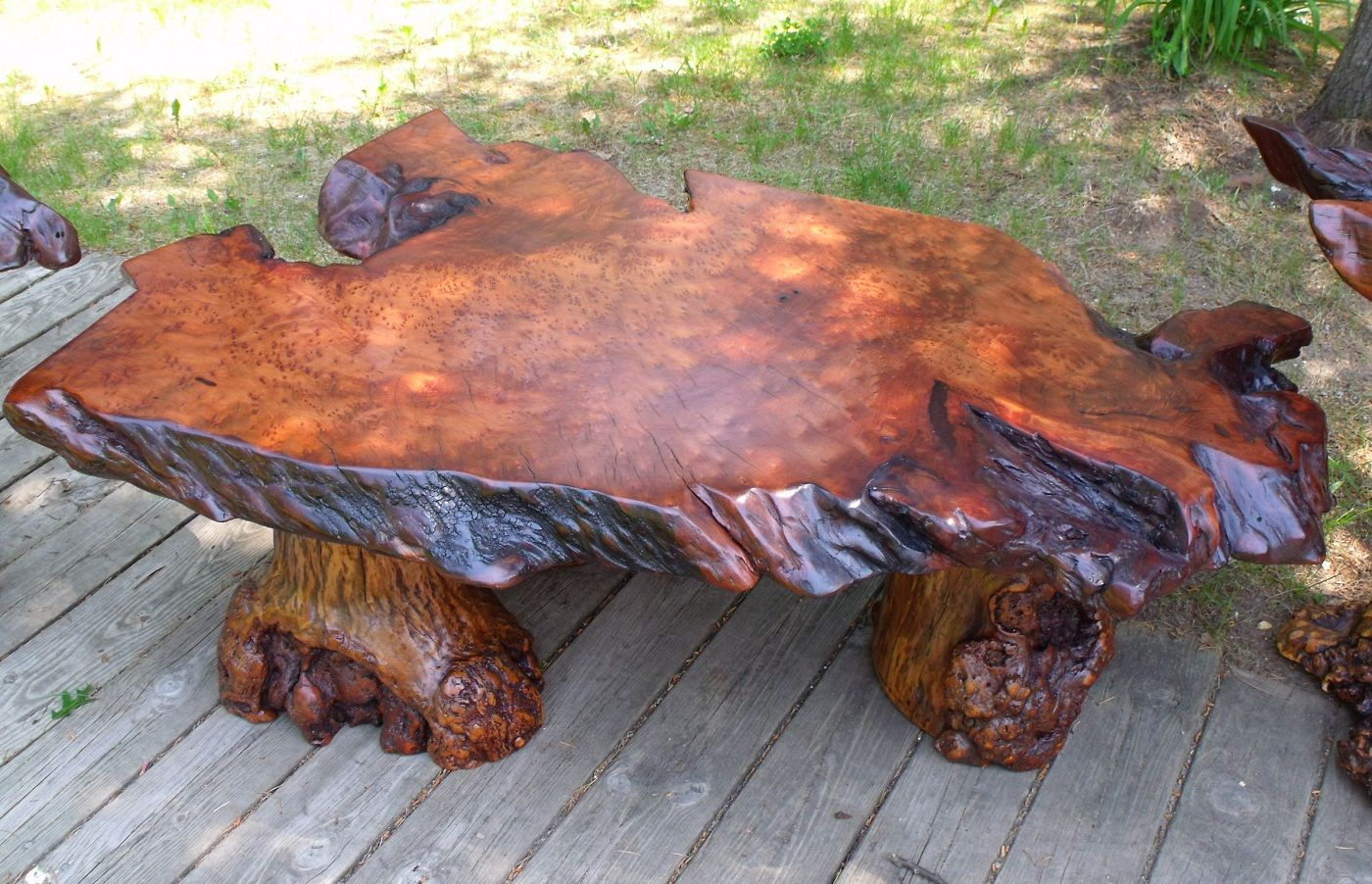 Redwood Burl Furniture | Redwood Burl Coffee Table ...