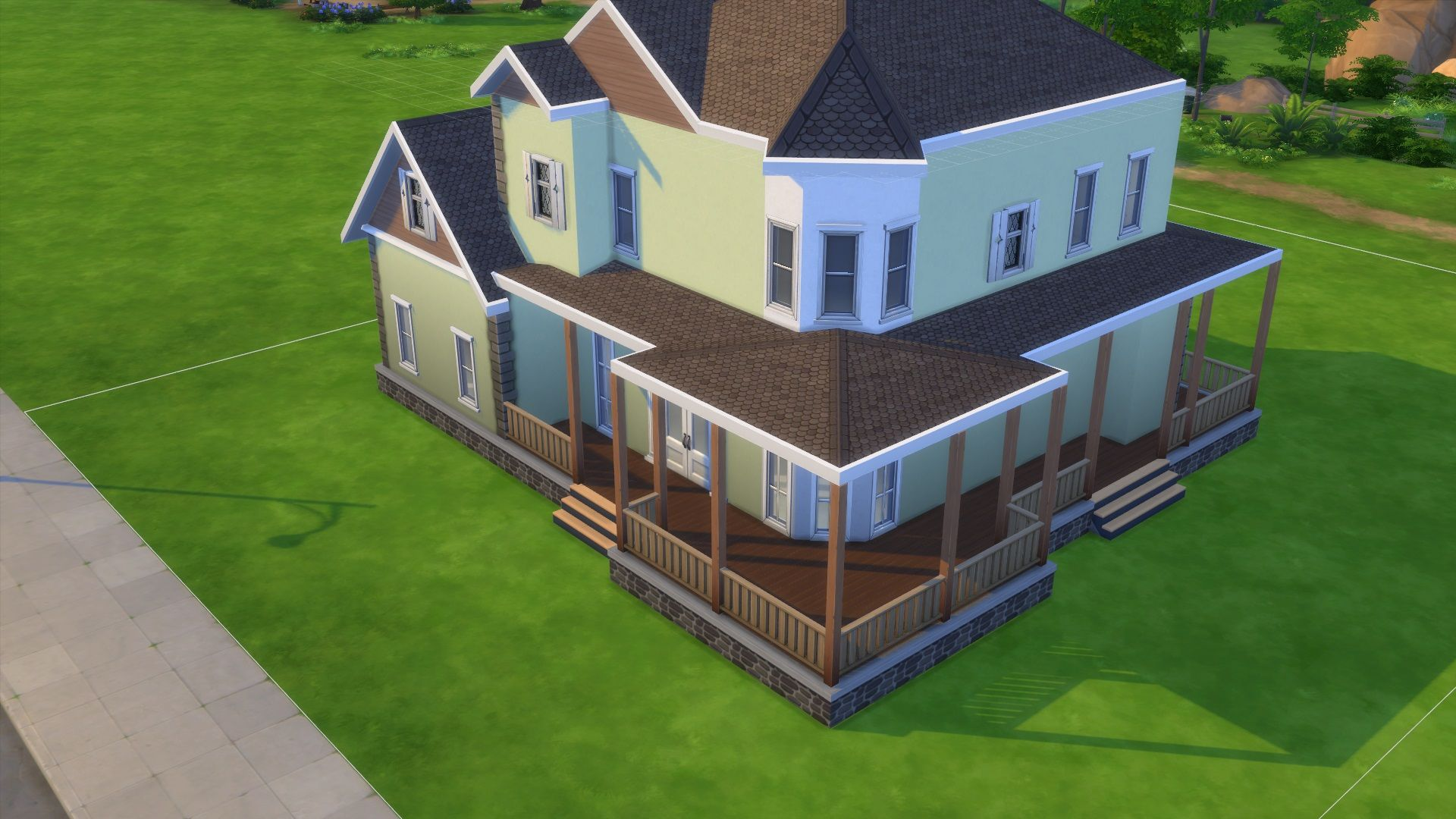 how to make a porch sims 4