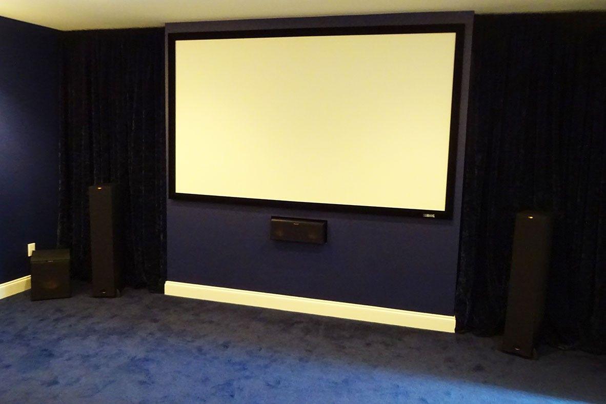 7.1 Movie cinema with Klipsch reference series speakers. Design ...