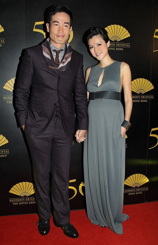 Hong Kong Actor Moses Chan, Left, And His Pregnant Actress -8684