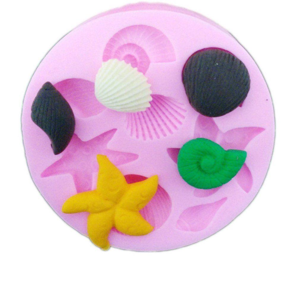Dimart sea starfish shell silicone mold mat for fondant