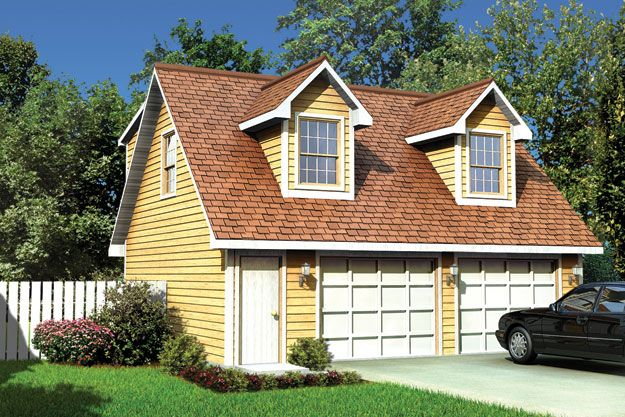 2 Car garage with a 1 bedroom apartment above for office or rental ...