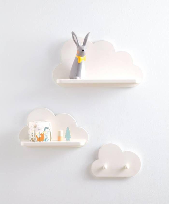 White Cloud Shelves And Coat Hook Set In 2020 Nursery