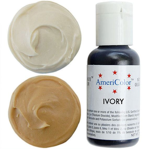 Americolor Ivory Gel Paste Food Color - high quality food coloring ...