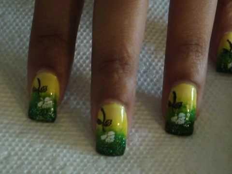 Shrek Inspired Gradient Nails - Tutorial - http://www.nailtech6.com/shrek-inspired-gradient-nails-tutorial/