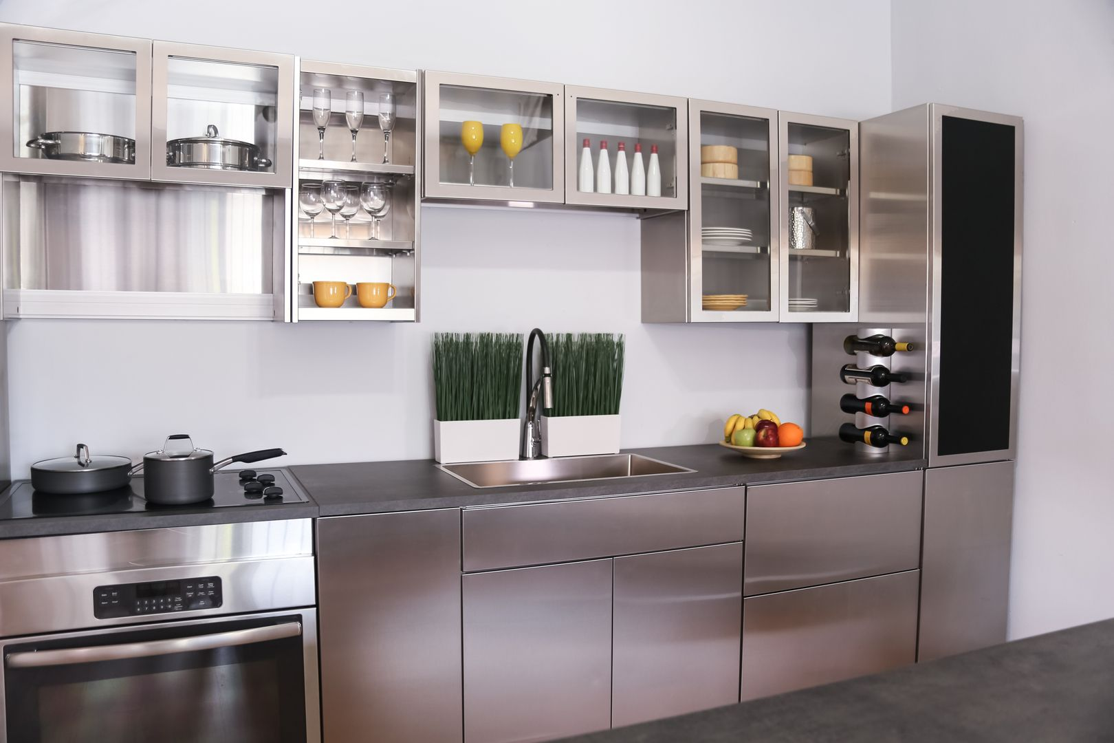 Stainless Steel Kitchen Cabinets In 2020 Kitchen Cabinet Door Styles Stainless Steel Kitchen Cabinets Steel Kitchen Cabinets