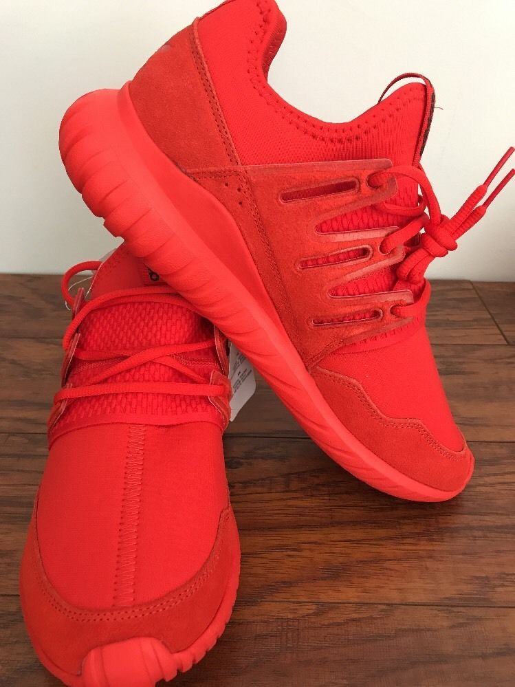 ADIDAS Originals Tubular Radial S80116 Men s (Size 10) - Red Sneakers New  without box. Ships fast and free!!!  604bb93826