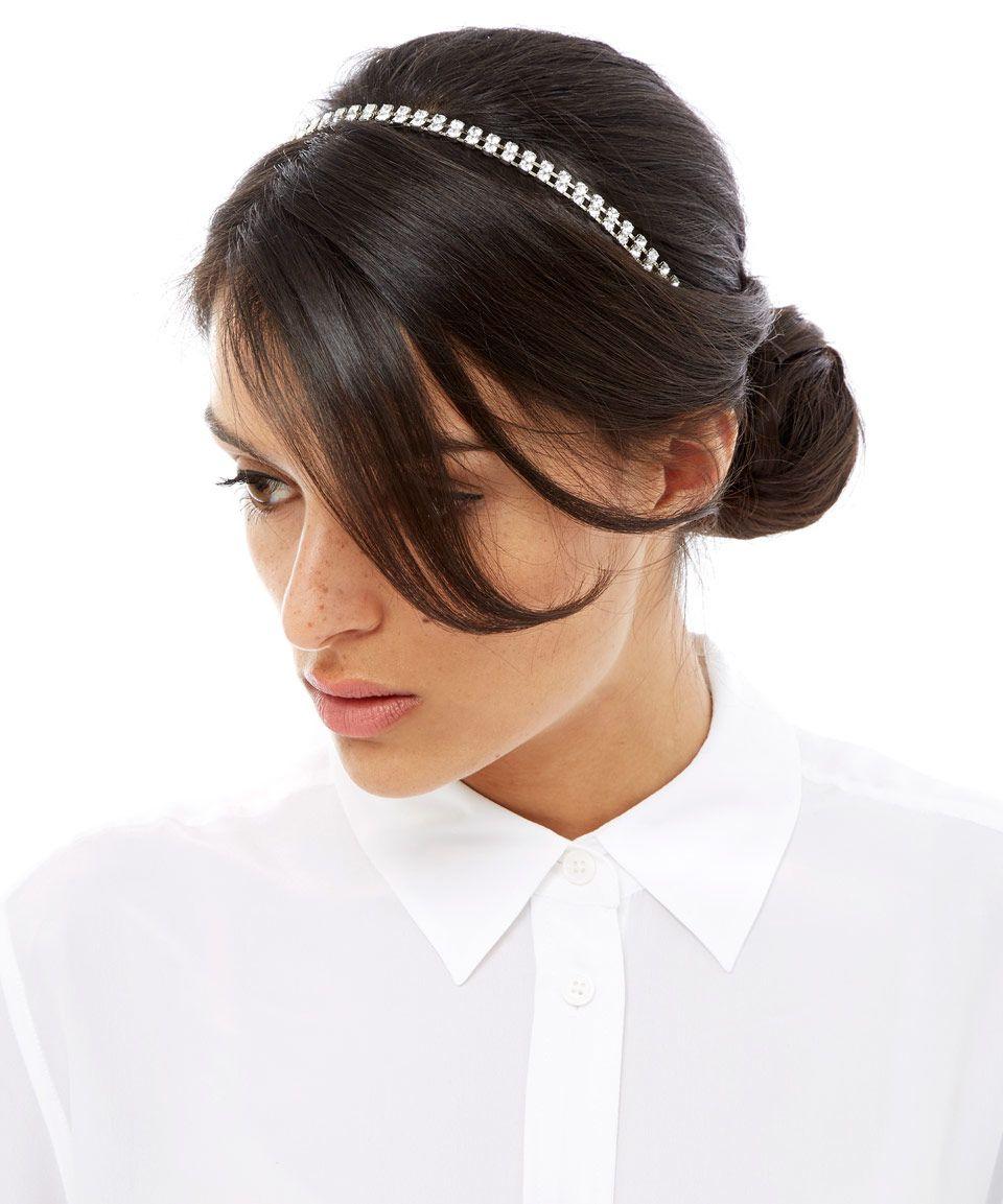 Hair accessories headbands uk - Jennifer Behr Silver Crystal Hailey Double Headband Hair Accessories By Jennifer Behr Liberty