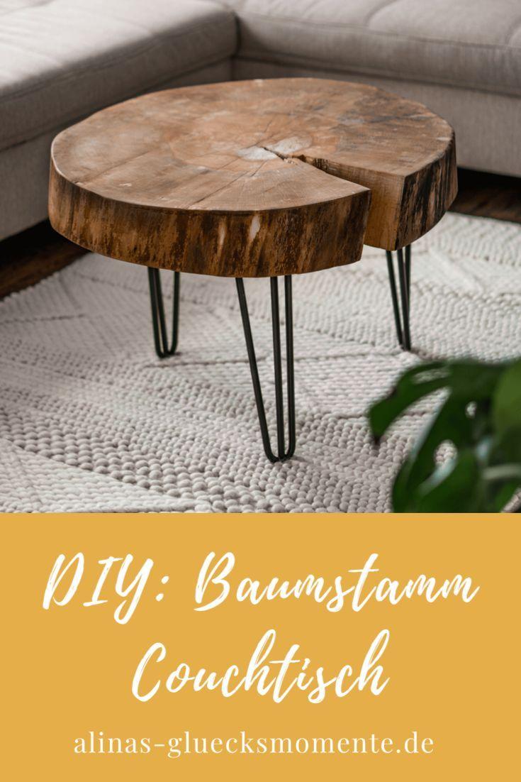 DIY: Baumstamm Couchtisch – alinas-gluecksmomente