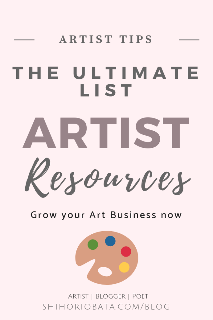 The Ultimate Resource List For Artists Selling Art Online Artist Business Art Business
