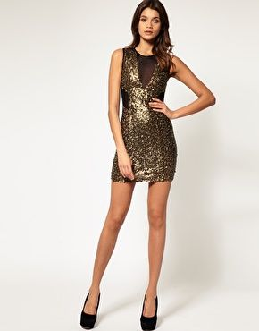 asos petite bengaline and mesh sequin mini dress holiday. Black Bedroom Furniture Sets. Home Design Ideas