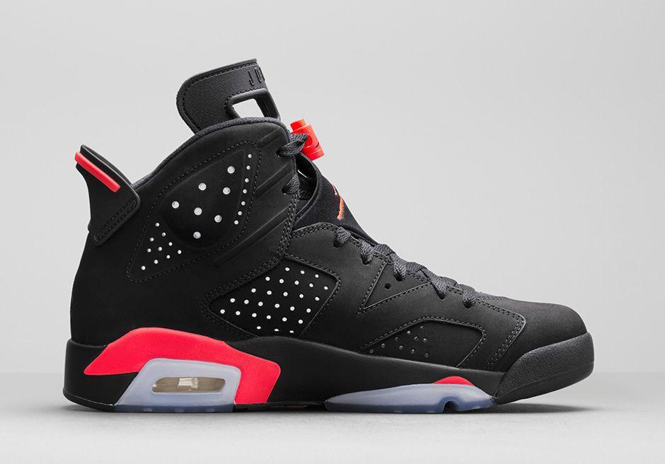 nike basketballschuh air jordan 6 retro gs black/infrared 23