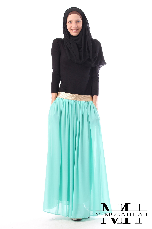 Jupe longue Golden pour la femme musulmane | jupe | Pinterest