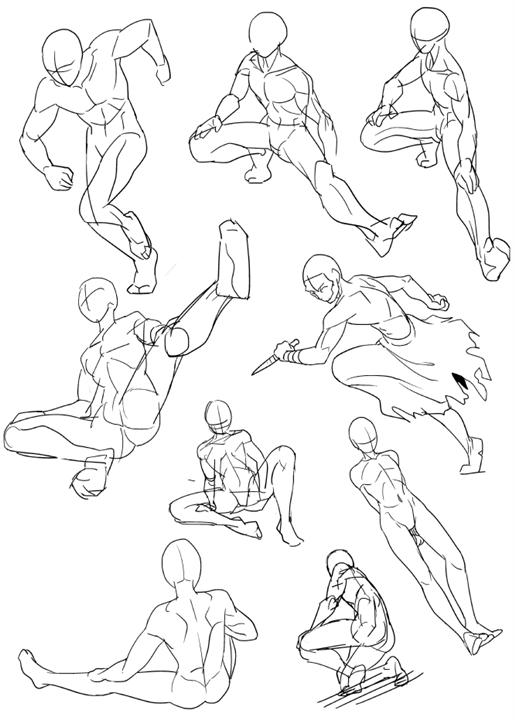 人体を描くのが苦手なやつが練習絵をアップするスレ スマホ版萌え