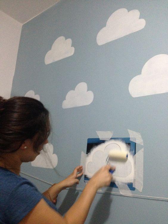 Nuvolette nella cameretta 15 idee per decorare la camera del bimbo pinterest idee fai da - Idee per decorare la camera ...