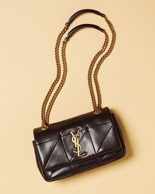 f9c120451e30 Saint Laurent Jamie Monogram YSL Giant Full-Flap Chain Shoulder Bag ...