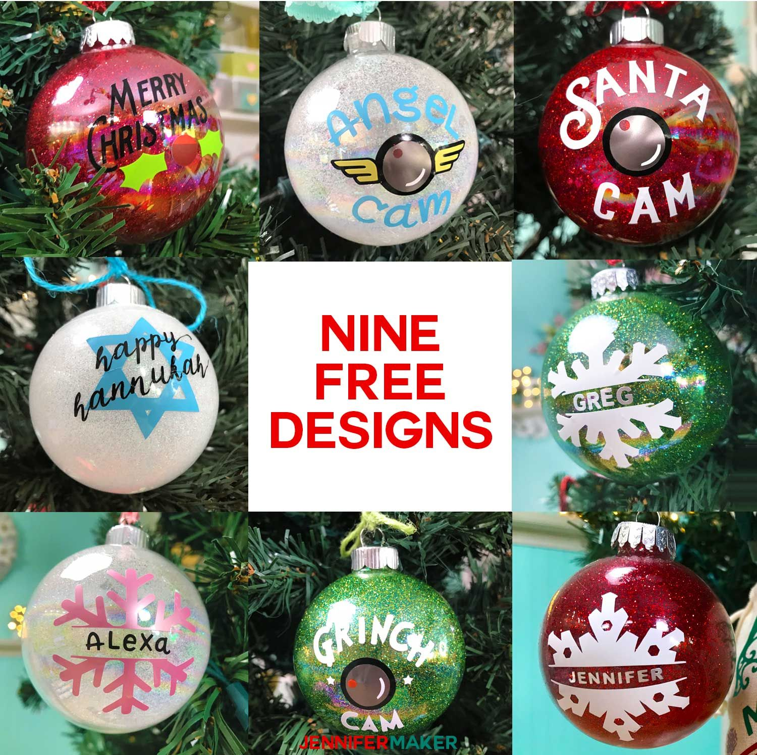 DIY Glitter Ornaments With Layered Vinyl (With images
