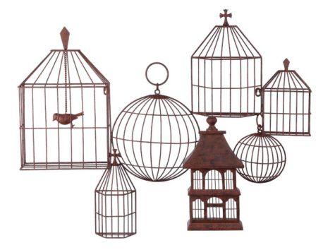 34 1 2l X 28 3 4h Metal Birdcage Wall Plaque Wholesale