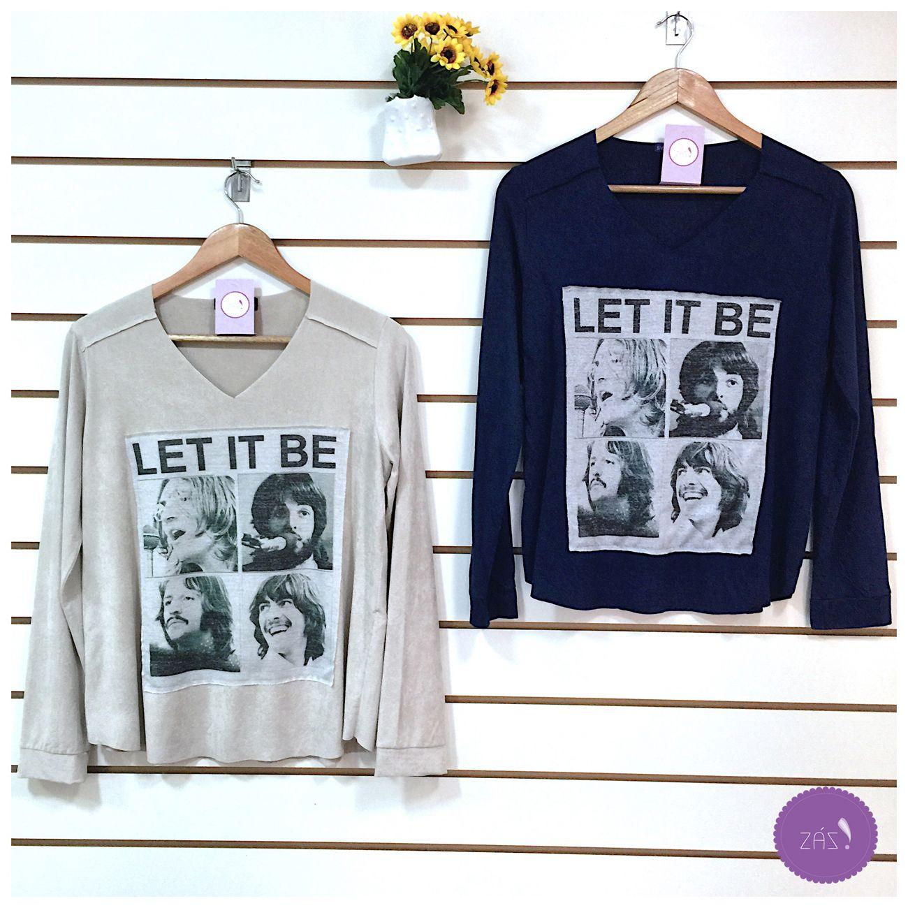 Apaixonadas por essa blusa em suede com o tema Beatles!❤️ #Vemprazas