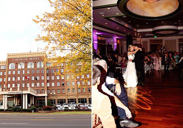 Carnegie Hotel Tri Cities Reception Wedding Site