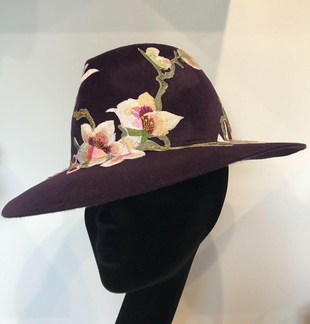 Plum color ladies dress hats