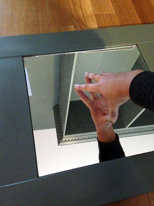 Add mirror to IKEA Besta shaker style door & Add mirror to IKEA Besta shaker style door | House by Angela Wrage ...