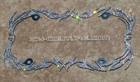 Fancy Swarovski Crystal Bling License Plate Frame By Icycouture Pink Car Accessories Car