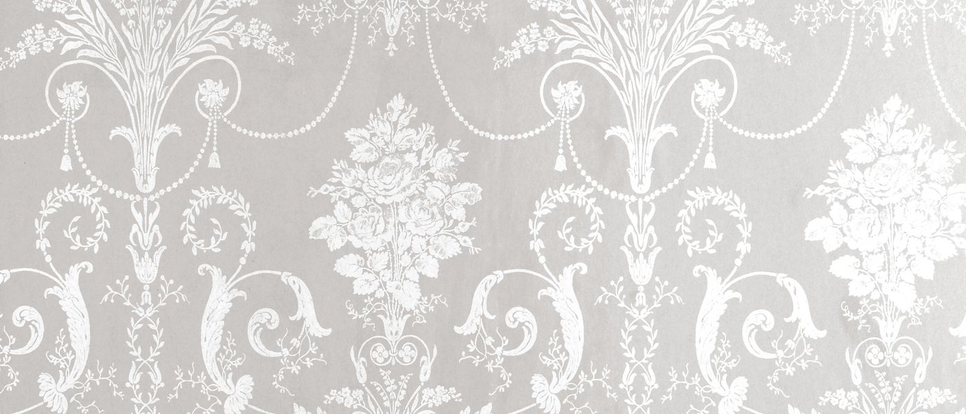 Josette White Dove Grey Damask Wallpaper At Laura Ashley