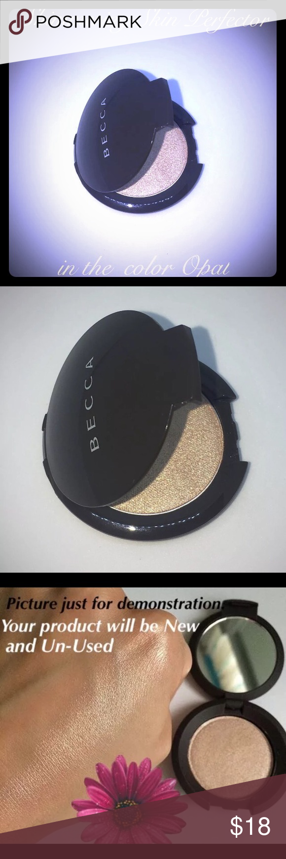 Becca Opal Pressed Shimmering Skin Perfector Mini BECCA✨Shimmering Skin Perfector✨Pressed Mini Highlighter in the Shade: OPAL (Travel Size) 2.4g / .08oz  NEW without box (Never Used, Never Swatched or Touched)  % AUTHENTIC⭐️ (from Sephora)  What it is:   A bestselling, creamy, highlighter powder to light up your best features with a high-shine finish.  What it does:   Like a spotlight for your skin, Shimmering Skin Perfector® Pressed Highlighter lights up your favorite features with…