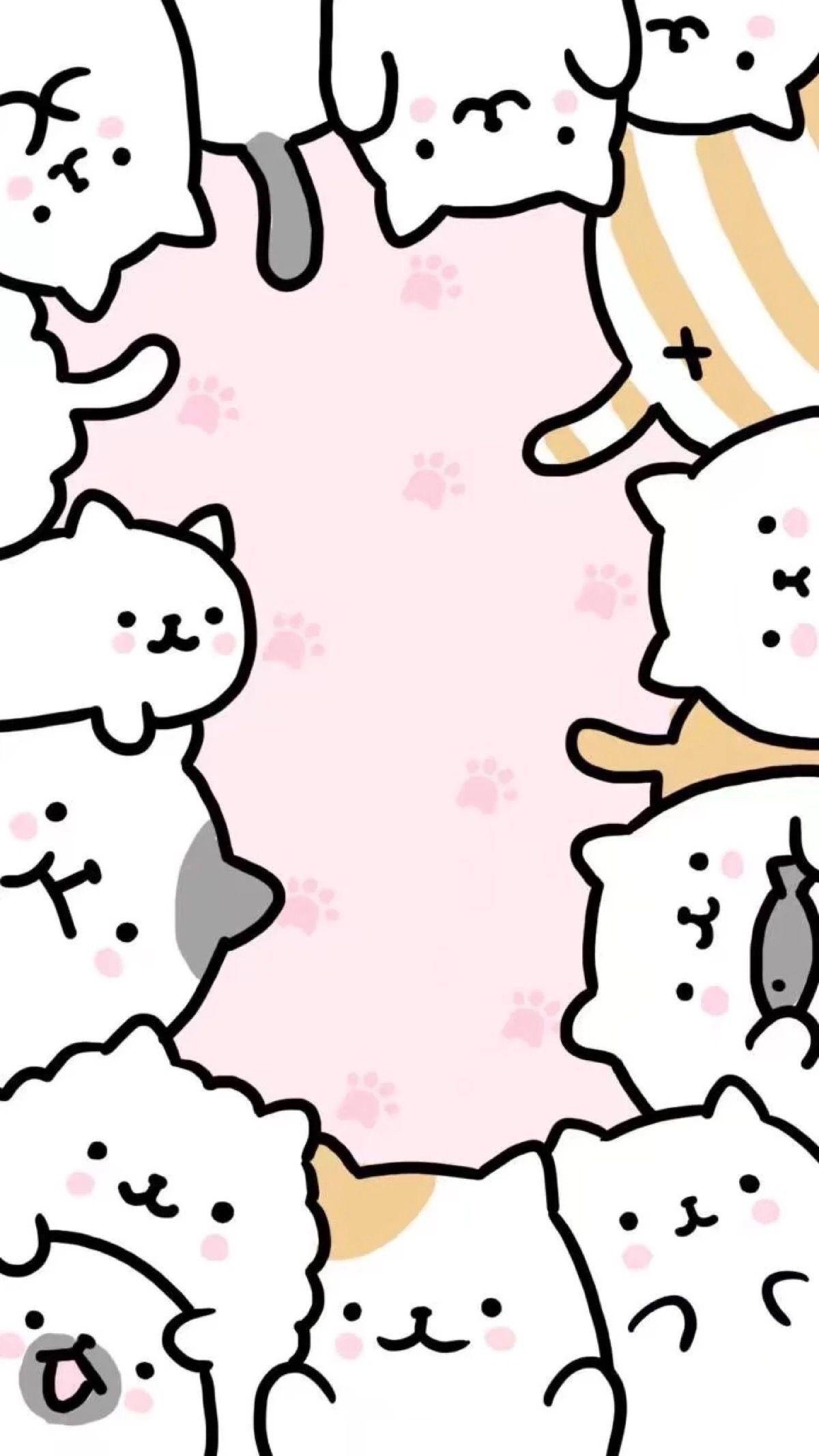 61 Papeis De Parede De Gato Kawaii No Wallpaperplay Catideas Cute Cat Wallpaper Cute Wallpapers Cat Wallpaper