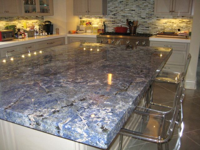 Blue Granite Countertops Kitchen Cool With Kitchen Blue Bahia Granite  Island Traditional Kitchen New