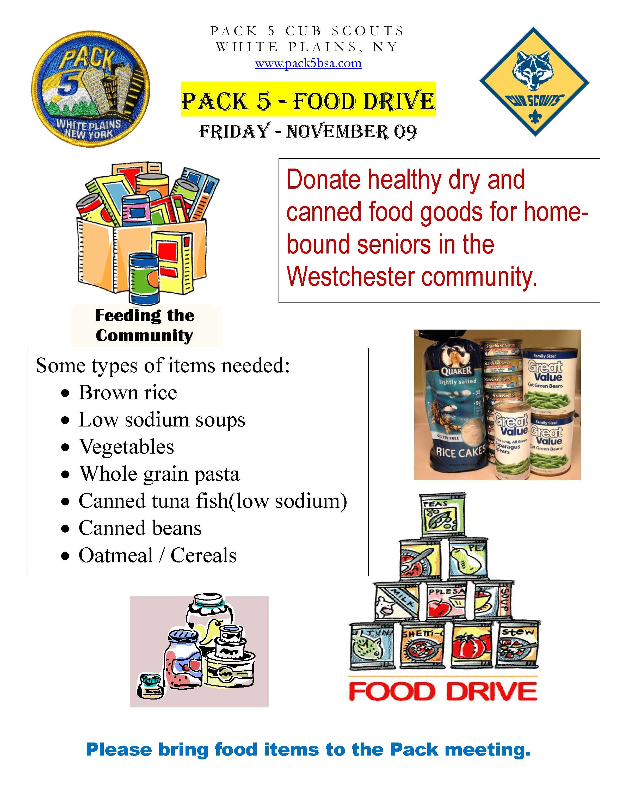 Cub Scout Food Drive Clip Art Scouts Pinterest – Can Food Drive Flyer Template