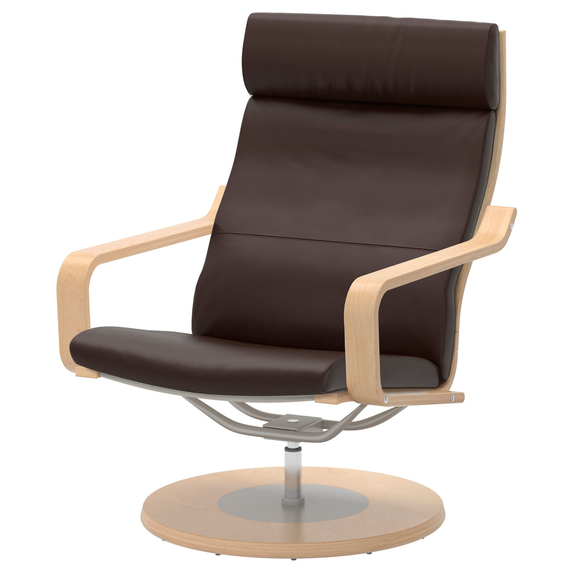 Excellent Poang Swivel Chair Robust Dark Brown Ikea It Has A Bralicious Painted Fabric Chair Ideas Braliciousco